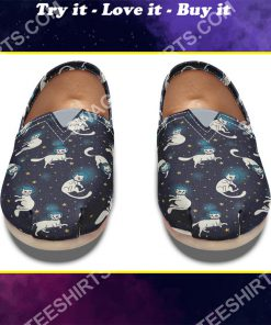 space cats lover all over printed toms shoes