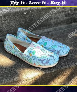 the science equipment pattern all over printed toms shoes