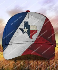 the texas flag all over printed classic cap 2 - Copy (2)