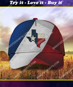 the texas flag all over printed classic cap