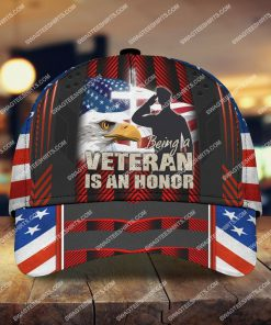 veterans day being a veteran is an honor all over printed classic cap 2