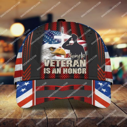 veterans day being a veteran is an honor all over printed classic cap 2 - Copy