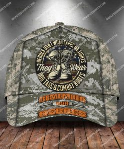 veterans day heroes wear dog tags and combat boots classic cap 2 - Copy (2)