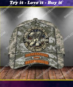 veterans day heroes wear dog tags and combat boots classic cap