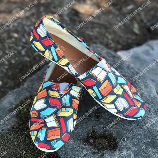 vintage book lovers all over printed toms shoes 2(1)