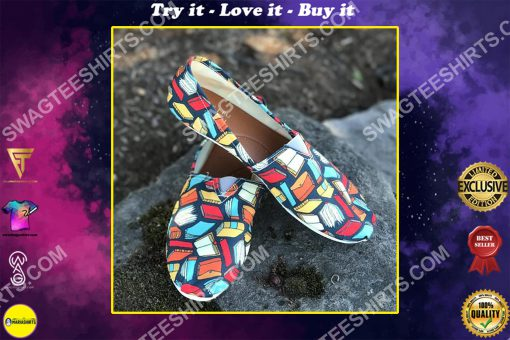 vintage book lovers all over printed toms shoes