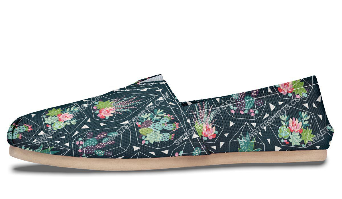 vintage cactus all over printed toms shoes 2(1)