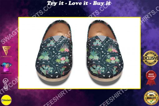 vintage cactus all over printed toms shoes