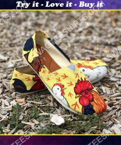 vintage chicken all over printed toms shoes