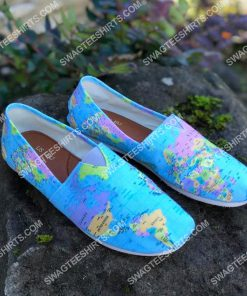 vintage geography globe all over printed toms shoes 2(1) - Copy