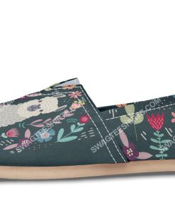 vintage llama and flower all over printed toms shoes 2(1)