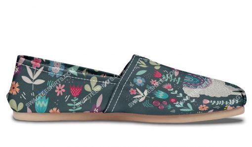 vintage llama and flower all over printed toms shoes 3(1)
