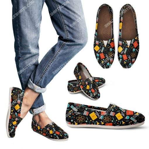 vintage scientist pattern all over printed toms shoes 2(1)