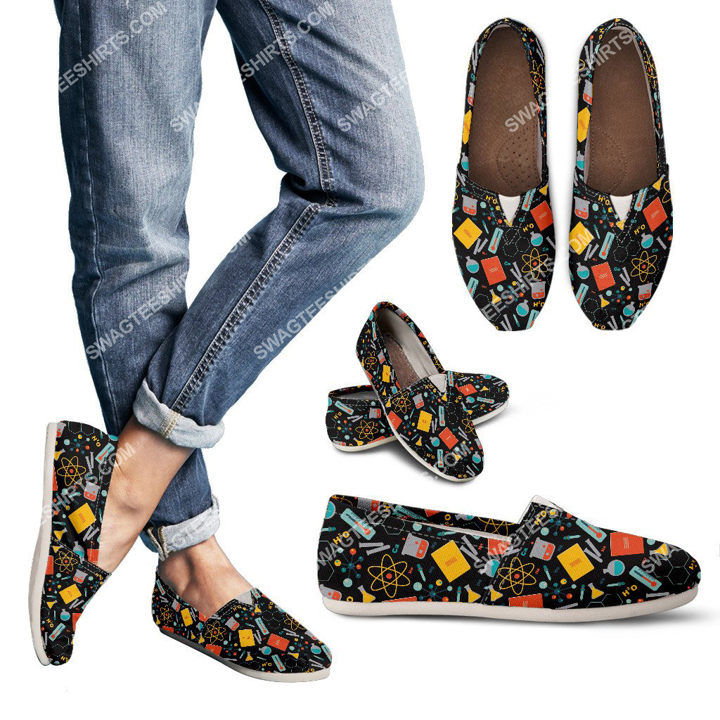vintage scientist pattern all over printed toms shoes 2(1) - Copy