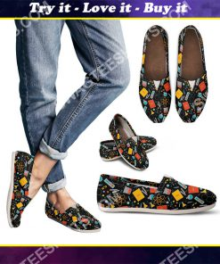 vintage scientist pattern all over printed toms shoes