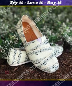 vintage sheet music all over printed toms shoes