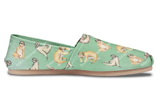 vintage sloth lover all over printed toms shoes 3(1)