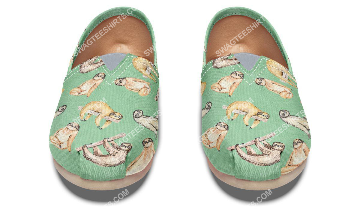 vintage sloth lover all over printed toms shoes 5(1)