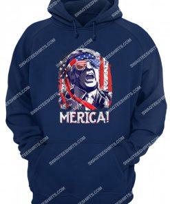 4th of july trump 'merica salt bae style hoodie 1
