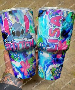 custom name floral and stitch steel tumbler 2(1)
