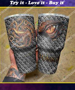 custom name game of thrones winter is coming dragon steel tumbler