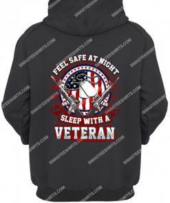 feel safe at night sleep with a veteran hoodie 1