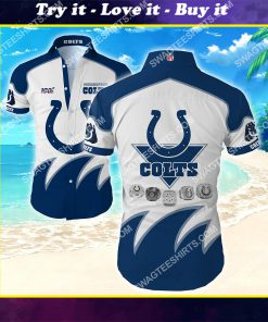 football team indianapolis colts full printing summer hawaiian shirt
