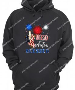 happy independence day christian cross red white blessed hoodie 1