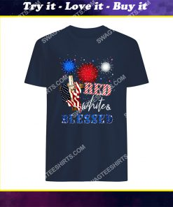 happy independence day christian cross red white blessed shirt