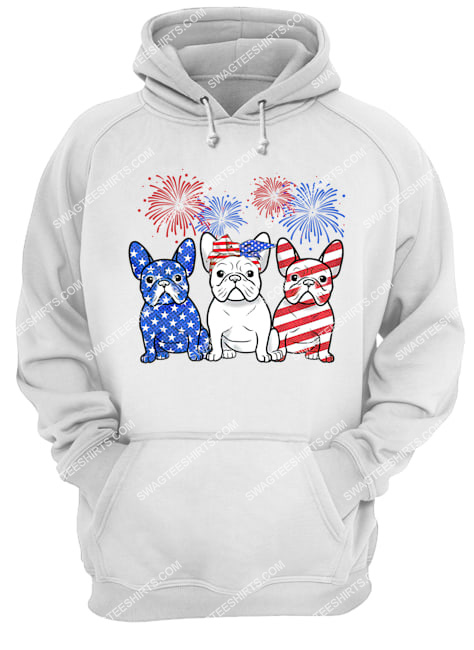 happy independence day french bulldog hoodie 1