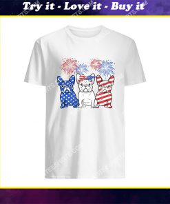 happy independence day french bulldog shirt