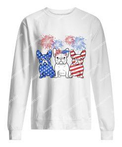 happy independence day french bulldog sweatshirt 1