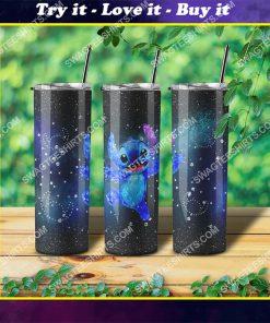 lilo and stitch movie galaxy glitter steel skinny tumbler