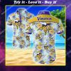 minnesota vikings floral all over print hawaiian shirt