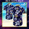 minnesota vikings floral tropical all over print hawaiian shirt
