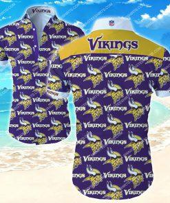 minnesota vikings football all over print hawaiian shirt 2
