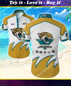 national football league jacksonville jaguars team hawaiian shirt