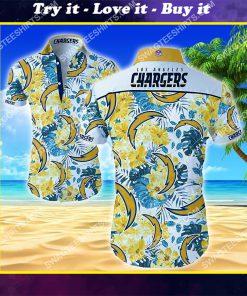 national football league los angeles chargers hawaiian shirt