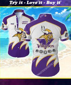 national football league minnesota vikings hawaiian shirt