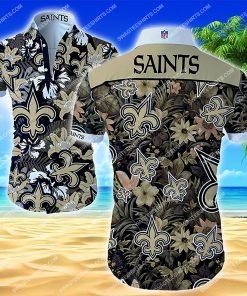 national football league new orleans saints floral hawaiian shirt 2 - Copy (2)