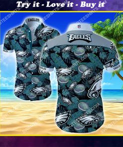 national football league philadelphia eagles hawaiian shirt