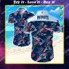 nfl new england patriots floral hawaiian shirt