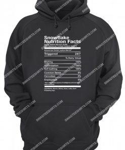 snowflake nutrition facts hoodie 1