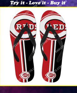 the cincinnati reds baseball full printing flip flops