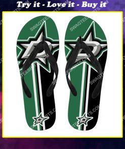 the dallas stars nhl full printing flip flops