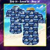 the los angeles chargers team all over print hawaiian shirt