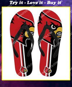 the louisville cardinals football full printing flip flops