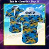 tropical los angeles chargers all over print hawaiian shirt