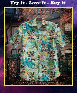 Aloha mickey mouse surfing summer vacation hawaiian shirt