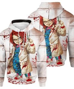 Chucky doll child's play horror movie halloween day hoodie 1
